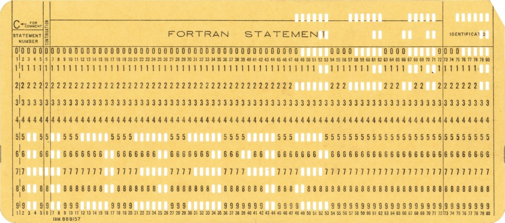 1964 12-03 FREE SPEECH punchcard yellow reverse