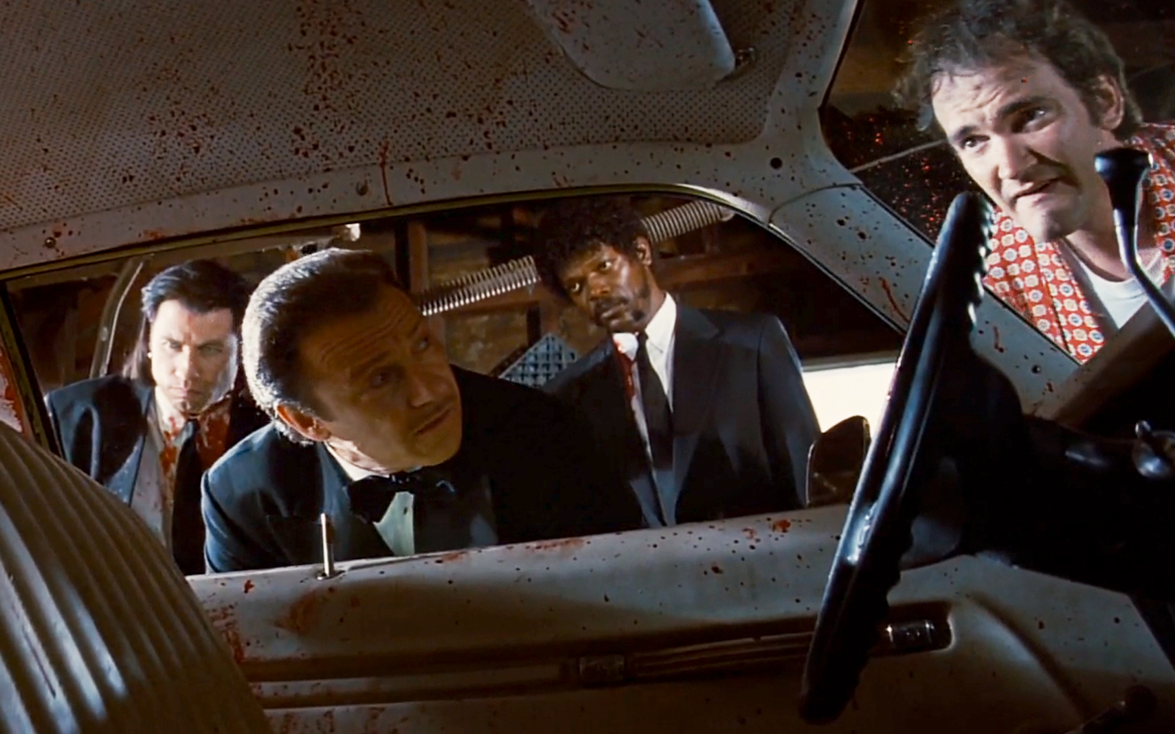 an analysis of a culture of violence in the film pulp fiction by quentin tarantino Quentin tarantino's pulp fiction is pretty close to the definition of its title, if only the american heritage dictionary had admitted rough, unfinished film as well as paper it is certainly.